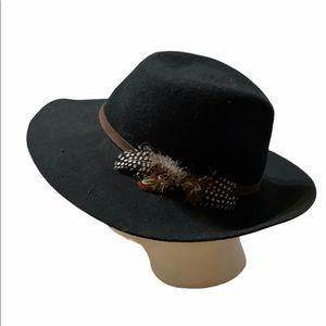 August Hat Company 100% wool black hat